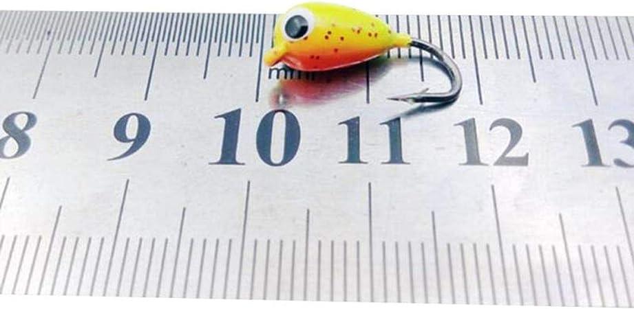 6Pcs Ice Fishing Jigs Tungsten Jig Winter Jigging Fishing Lures Bait Fast