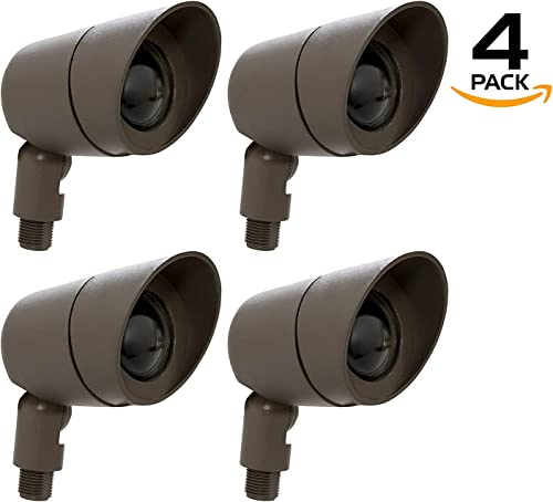 Westgate Lighting LED Directional Landscape Lights Die – Cast Aluminum Housing – IP67 Waterproof – 12V AC – 36 Beam Angle – All Accessories Included 4 Black