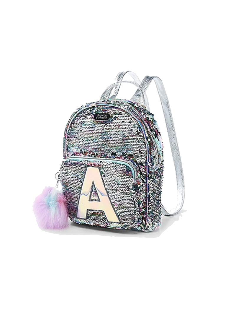 Amazon.com | Justice Pastel Flip Sequin Small Mini Backpack Initial (Letter T) | Casual Daypacks