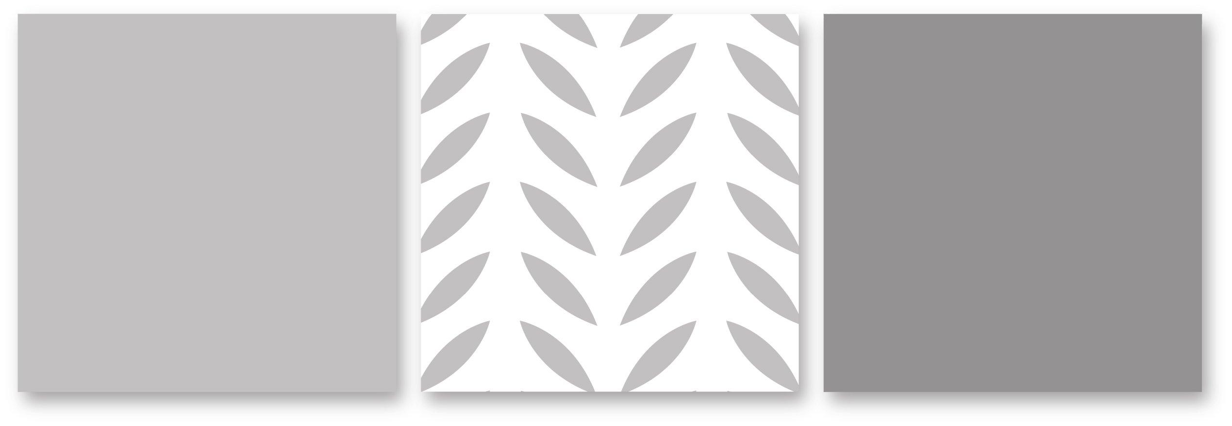 Sweet Jojo Designs 3-Piece Grey Gold and White Forest Deer and Dandelion Girl or Boy Full/Queen Bedding Children's Bedding Set by Sweet Jojo Designs (Image #4)