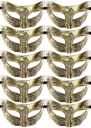 10pcs Set Mardi Gras Half Masquerades Venetian Masks Costumes Party Accessory - Party Costume Masquerade