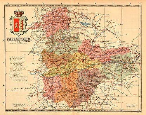 Amazon Com Valladolid Castilla Y Leon Mapa Antiguo De La