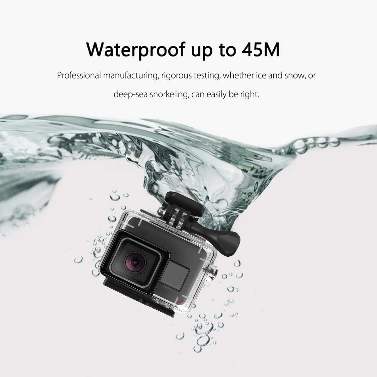 Housing Case Filter Kit Compatible with Go Pro Hero 7 Silver White,Vuffuw Waterproof Case Accessories Kit with Waterproof Case,Anti-Fog Film,Filter,Ropes,Storage Bag