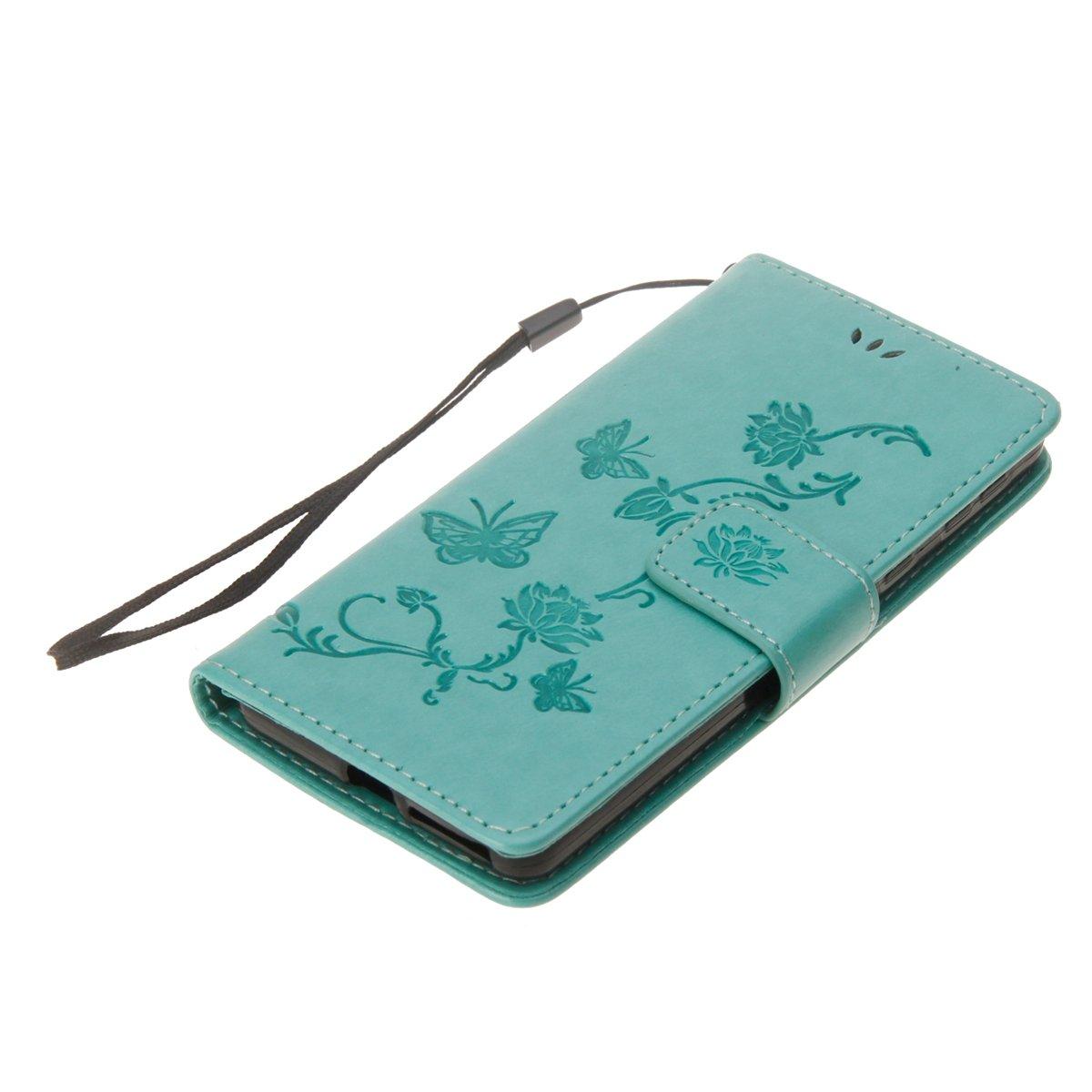 Herbests Kompatibel mit Sony Xperia E5 H/ülle Tasche Leder Flip Case Schmetterling Blumen Muster Retro Lederh/ülle Schutzh/ülle Handyh/ülle Wallet Cover Bookstyle Handytasche St/änder,lila