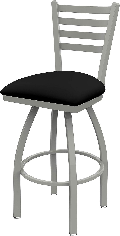 Holland Bar Stool Co. 41036ANBlkVinyl 410 Jackie Swivel Bar Stool, 36 Seat Height, Black Vinyl