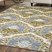Superiors Designer Non-slip Chloe Area Rug; Digitally Printed, Low Maintenance, Affordable and Fashionable, Taupe - 2 x 3