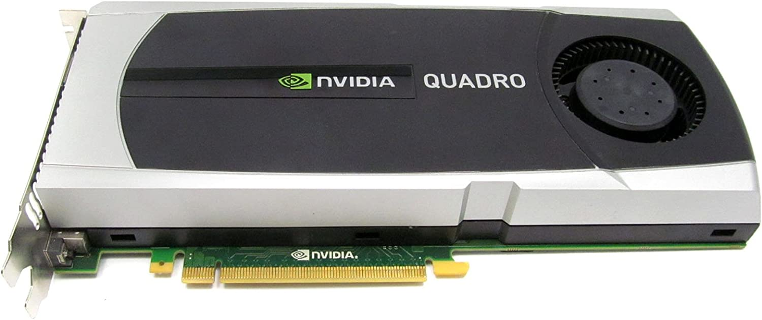 NVIDIA HP 671138-001 Quadro 5000 PCIe graphics card - With 2.5GB GDDR5 GPU memory, max resolution 2560x1600, one Dual Link DVI-I and two DisplayPorts