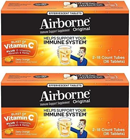Airborne Orange Effervescent Tablets Vitamin