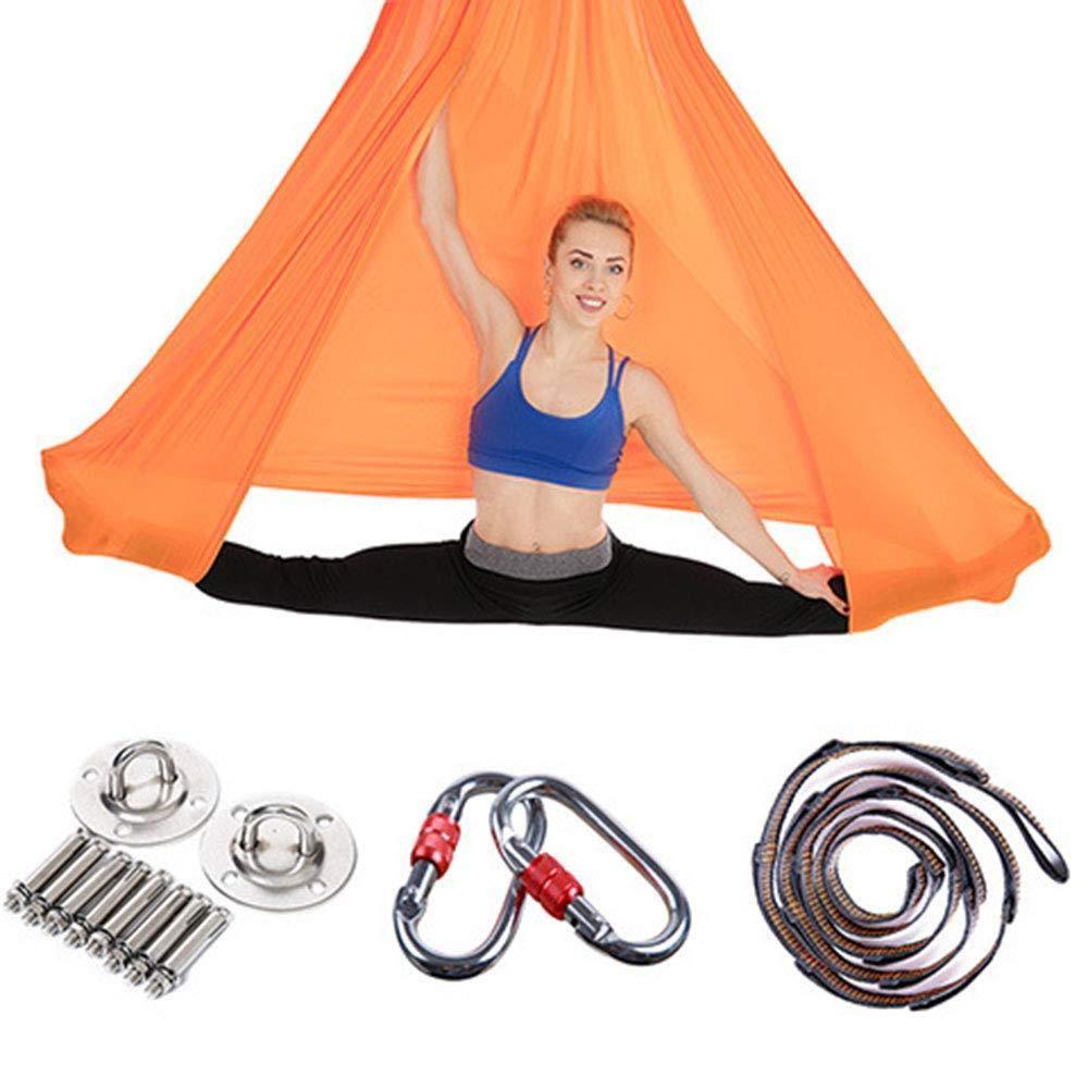 FLY FLU Aerial Yoga H/ängematte, Aerial Yoga H/ängematte//Schaukel//Schlinge//Inversionsger/ät Anti-Schwerkraft-Yoga Vertikale Yoga-Tuch H/ängematte Fitness F/ür Pilates Gymnastik