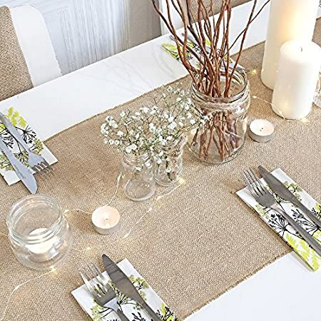 Fashion Natural Jute Fabric Background Decoration DIY Christmas Party Supplies