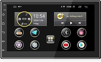 ANKEWAY 2021 Nuevo 7 Pulgadas [2G+16G] Android 10,1 Radio Coche 2 DIN con HiFi+WiFi+Bluetooth+RDS+FM+Am+Navegación GPS, Sistema Multimedia de Internet ...