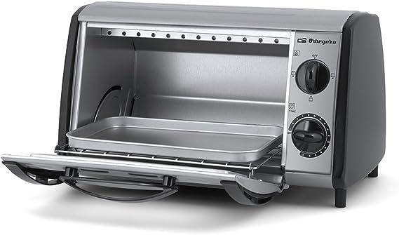 Orbegozo HO810A Mini horno- tostador multifunción, 800 W, 8 litros, Gris