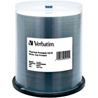 Verbatim CD-R 700MB 52X White Thermal Printable, Hub Printable - 100pk Spindle