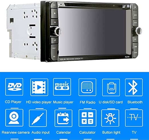 6.95 Reproductor de DVD para automóvil, Pantalla táctil Digital estéreo HD para Auto con Radio Bluetooth MP5 sin Manos para Toyota Camry para Celica, para Corolla Etc.Series: Amazon.es: Hogar