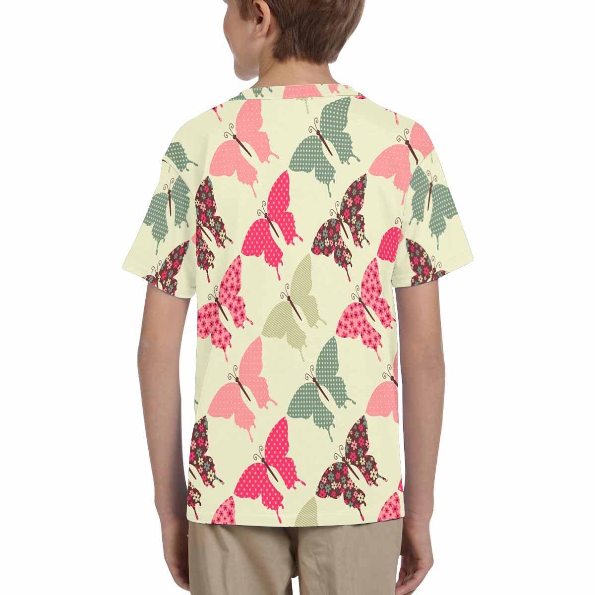 INTERESTPRINT Childs T-Shirt Butterflies XS-XL