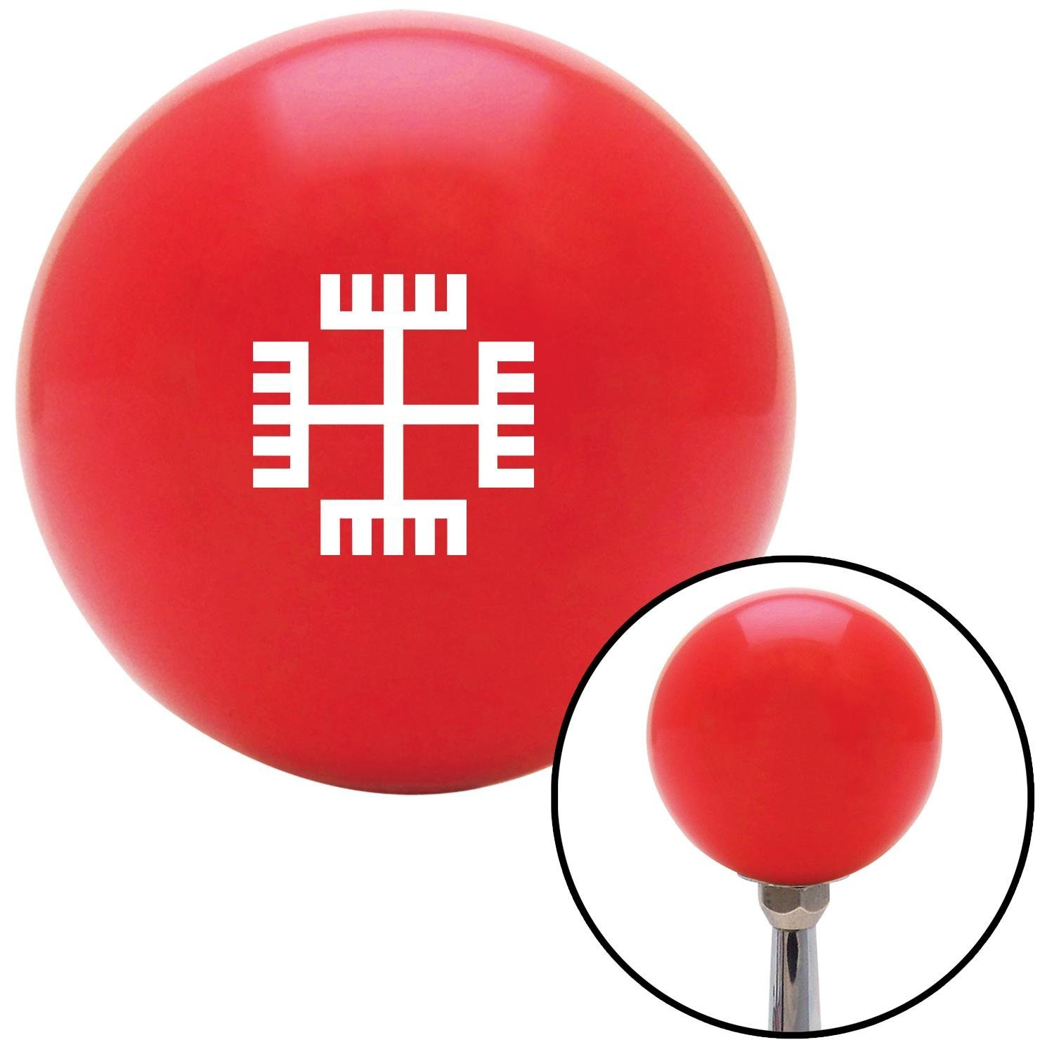American Shifter 99450 Red Shift Knob with M16 x 1.5 Insert White Hands of God