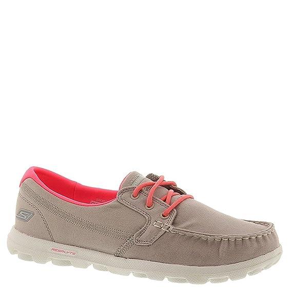 2553bc274f6e Skechers On The Go Clipper Womens Boat Shoes - Stone - UK 3 - EU 36 ...