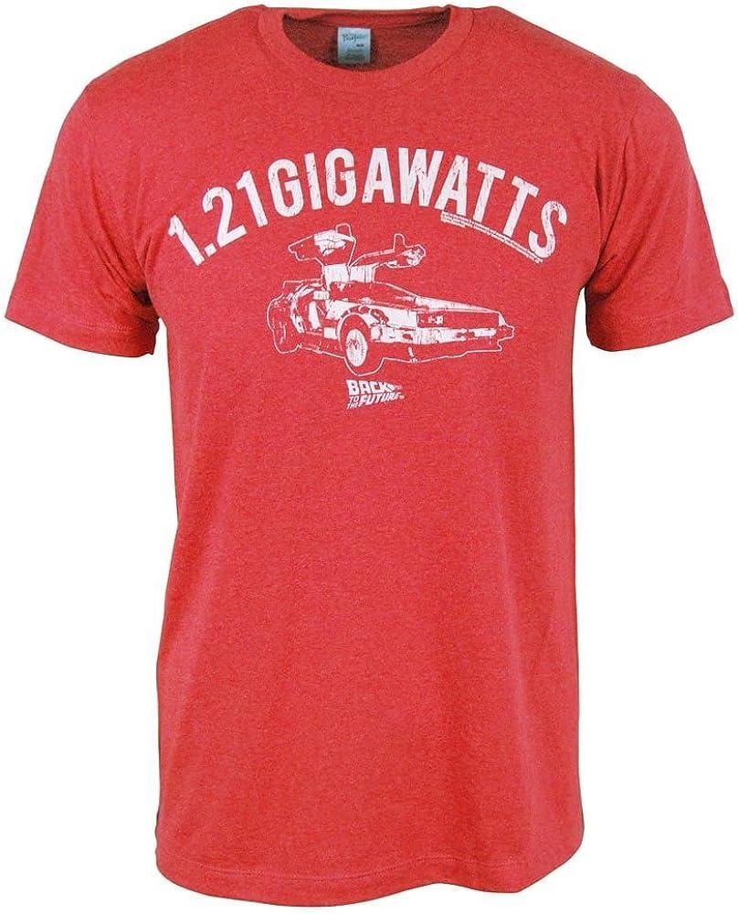 Desconocido para Hombre Volver Al Futuro 1, 21 Gigavatios T Camisa Roja: Amazon.es: Ropa y accesorios