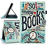 Fire HD 8 2016/2017 Case, Dteck Cartoon Cute Flip Folio Smart Stand Case [Auto Sleep Wake Feature] Stylus Pen Synthetic Leather Magnetic Wallet Cover Case Amazon Fire HD 8 2016 2017-Books