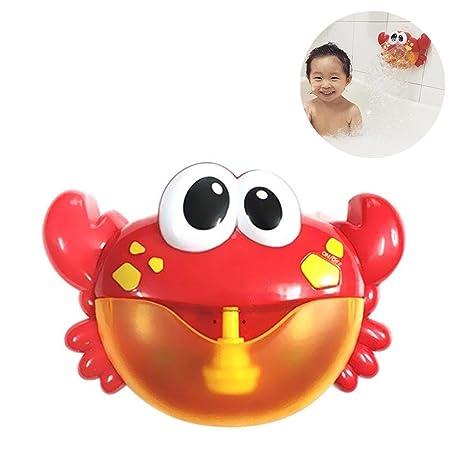 AOLVO Maquina de Burbujas Portatil para Baño, Divertido Forma de Cangrejo, Reproducir la Función