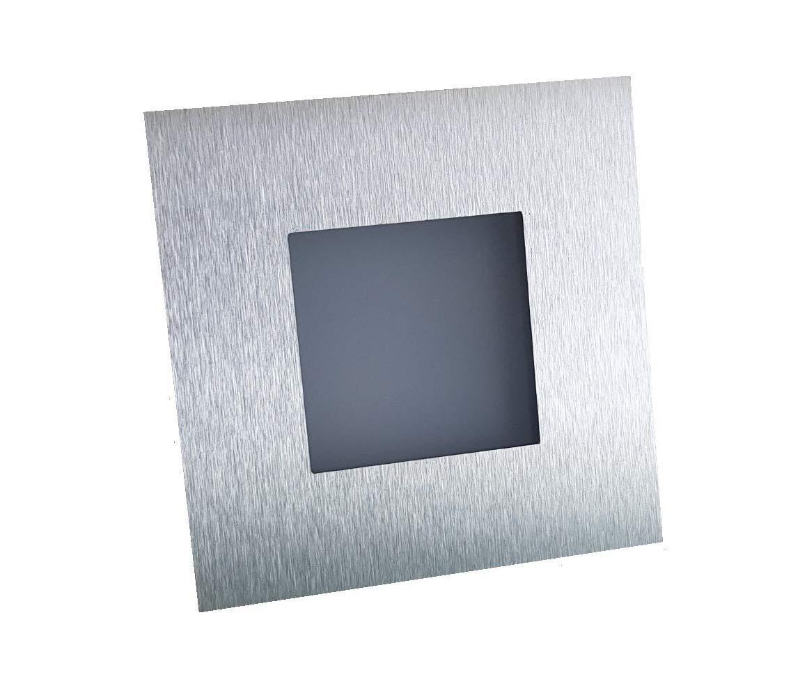 Naka24 4-er Set Simple  LED Wand und Treppenbeleuchtung Treppenlicht 2W 230V Warm 21 WS W ED 230V, Edelstahl,