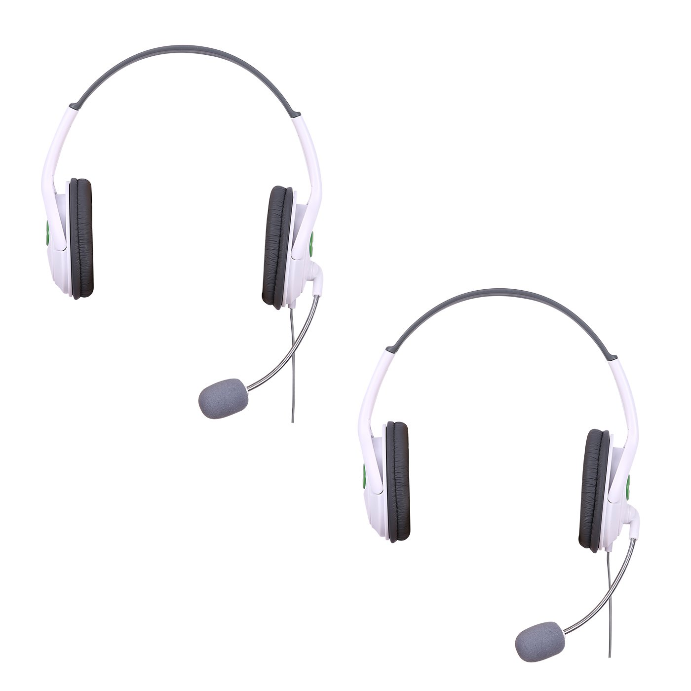 HDE Headset for Xbox 360 Console and Live Service Two Pack Headphone and Microphone for Game Chat Compatible with Wireless Controllers (2pk)