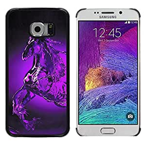 Stuss Case / Funda Carcasa protectora - Glass Water Horse Pegasus Mystical Purple - Samsung Galaxy S6 EDGE SM-G925