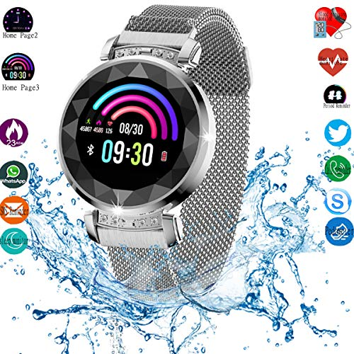 Smart Watch, Fitness Tracker with Heart Rate & Blood Pressure & Sleep monitor for Android & IOS, Waterproof Activity Tracker Watch with Calorie Counter & Pedometer, Health Sport Watch for Women girl