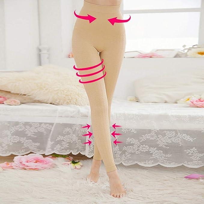 TIMEMEAN Mujer Body Shaper Braguitas Escultura Sleep Leg Shaper Pants Legging Calcetines: Amazon.es: Ropa y accesorios