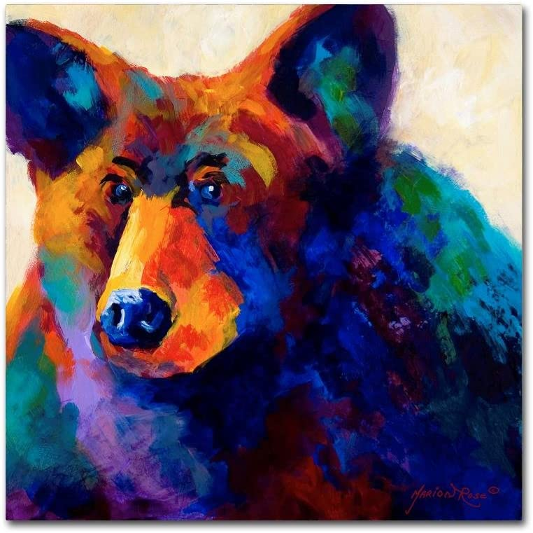 Amazon Com Beary Nice By Marion Rose 24x24 Inch Canvas Wall Art Posters Prints