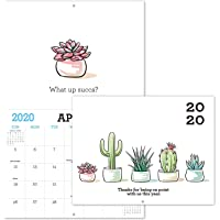 """Gag Gifts - 2020 Calendar for Funny White Elephant Gag Gift Exchange/Christmas, Large 11"""" x 17"""" When Open, Joke Present with Beautiful Photos of Cactus, Sturdy Paper"""