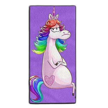 La Angry unicornio Ultra de microfibra suave toalla de mano toalla de cara toalla de baño
