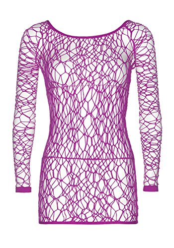 Leg Avenue Web Fishnet Long Sleeved Mini Dress