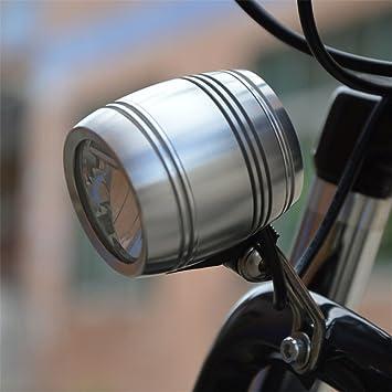 Amadoierly Bicycle Light Bike Estándar de luz con Botón encender y Apagar led Dynamo Light, Blanco: Amazon.es: Deportes y aire libre