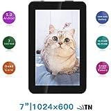 TXVSO 7 Pulgadas Tablet PC - Google Android 5.0.1 MTK8127 Quad Core 1.3GHz, 1024 * 600 Pantalla HD, 1GB + 8GB, Bluetooth WiFi, Negro