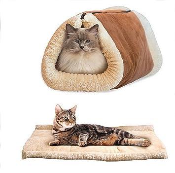 Túnel, cama, colchón con cremallera Asentechuk®, plegable 2 en 1, para mascotas, gato, perro, cachorro, cálida cama térmica: Amazon.es: Productos para ...