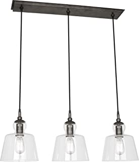 product image for Robert Abbey P753 Albert - Three Light Pendant, Patina Nickel Finish with Clear Glass
