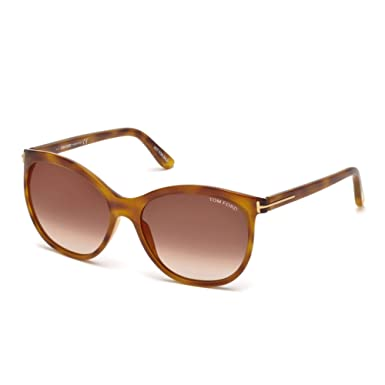 07913197c2d2 Image Unavailable. Image not available for. Color  Sunglasses Tom Ford FT  0568 Geraldine- 02 53G Blonde Havana   Brown Mirror