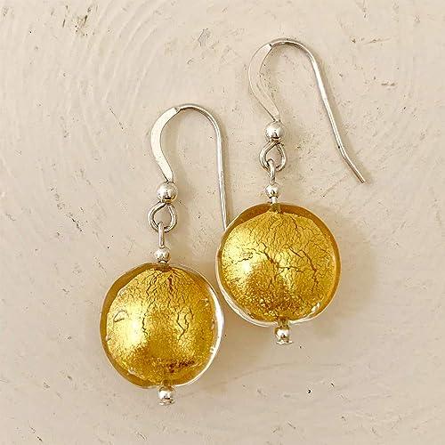 5e8e41dd6 Diana Ingram light (pale) gold Murano glass small lentil 'smartie ...