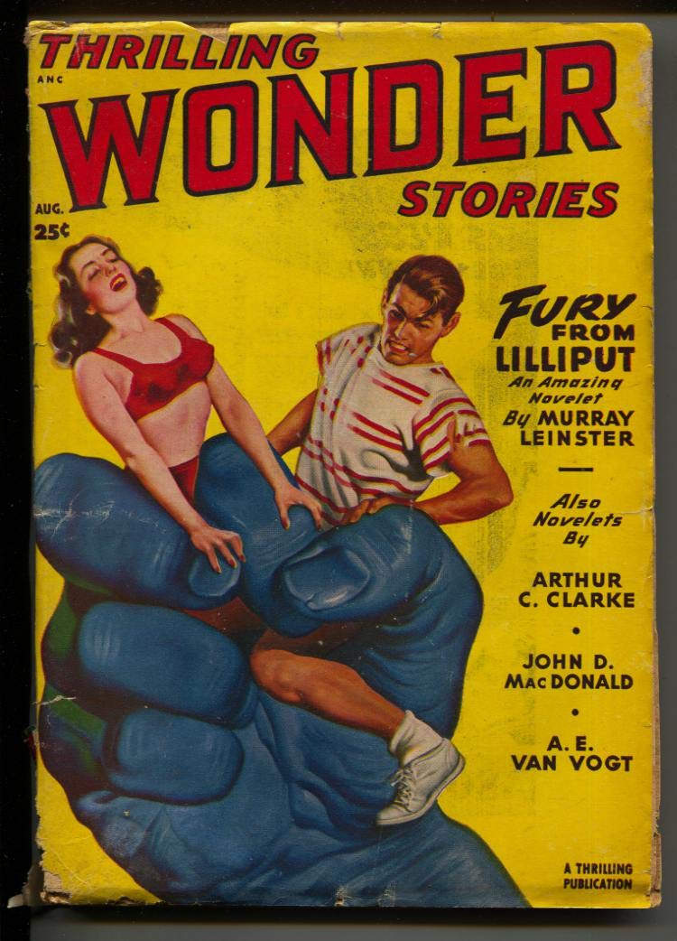 Thrilling Wonder Stories-Pulp-8/1949-Arthur C  Clark-A  E