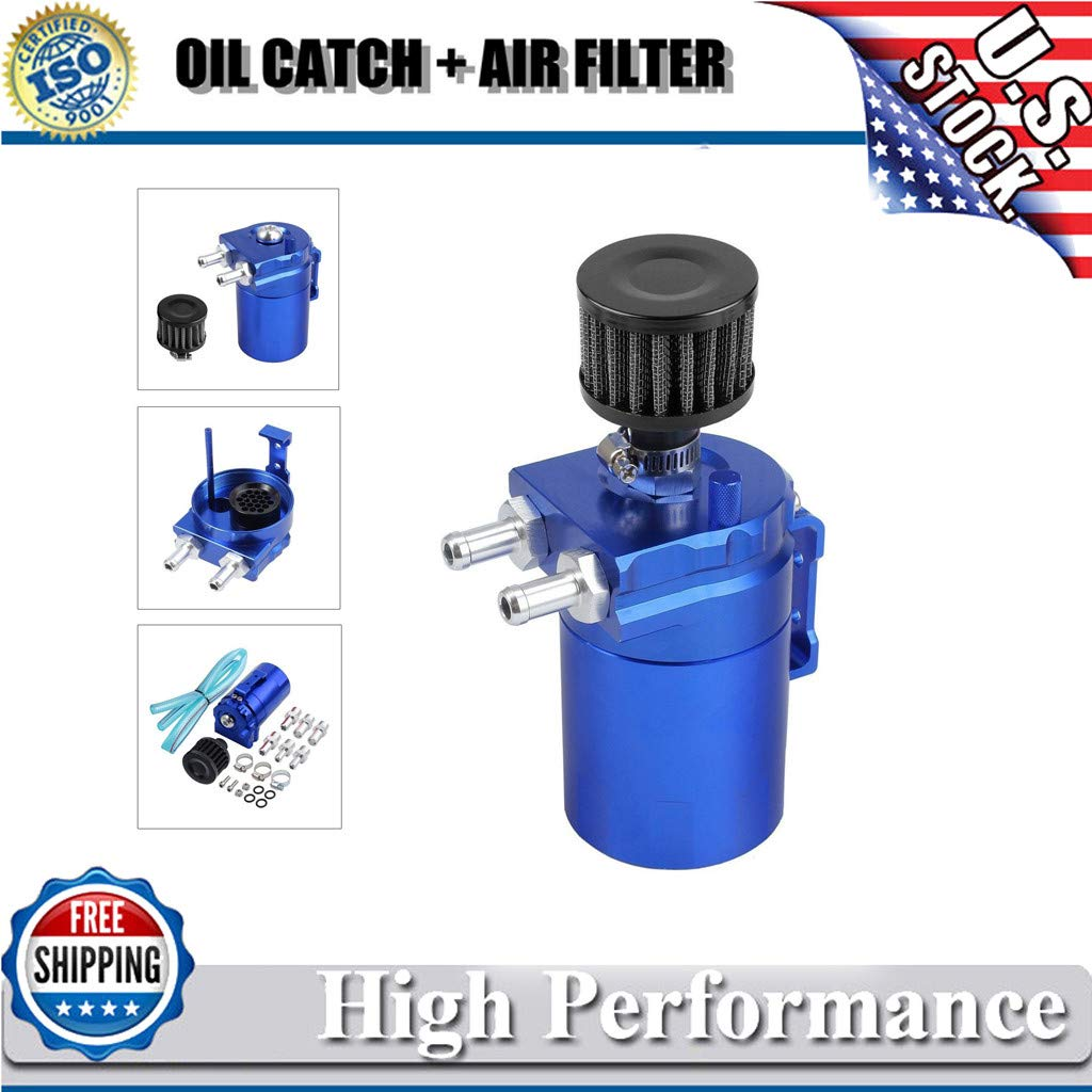 Rigel7 Universal Oil Catch Reservoir Breather Can Tank Filter Kit Cylinder Aluminum Engine Shipped Car Auto Truck Repair Replacement Parts Tool