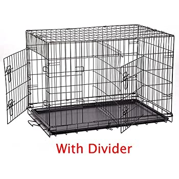 Amazon Com New 42 Quot Large Divider Folding Pet Dog Cage