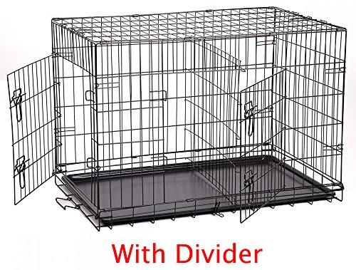 """Bestpet 48"""" Extra Large Divider Folding Pet Dog Cage Crat..."""