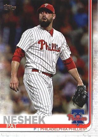 2019 Topps Heritage #252 Pat Neshek Philadelphia Phillies Baseball Card