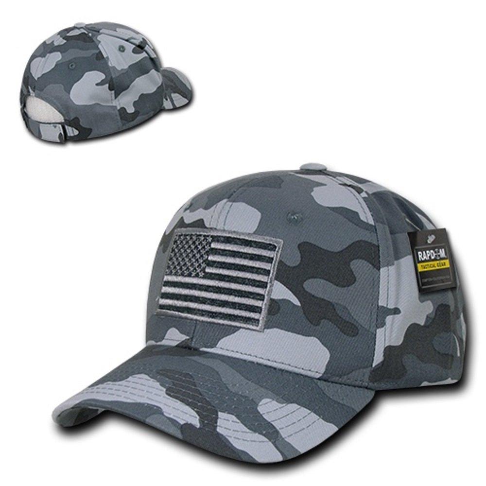 RapDom táctico Estados Unidos Bordado Operador Cap - Gris -: Amazon.es: Ropa y accesorios