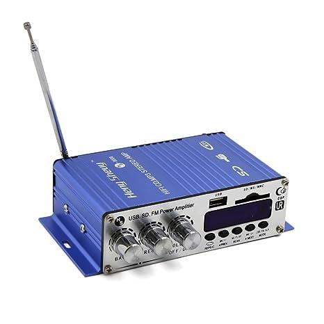 Amazon.com: eDealMax 2 Canales Mini Hi-Fi Pantalla Digital amplificador Audio estéreo de coche de la motocicleta: Car Electronics