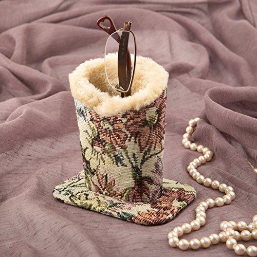 "FashionCraft 5"" Stunning Tapestry Fabric Eyeglass Holder"
