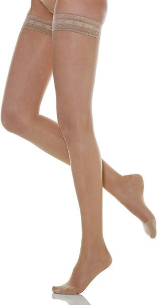 Relaxsan Basic 870 calze elastiche autoreggenti 140 den compressione  graduata 18-22 mmHg: Amazon.it: Abbigliamento