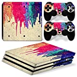 MODFREAKZ™ Console and Controller Vinyl Skin Set - Dripping Paint for PS4 Pro