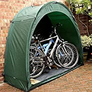 Large Portable Waterproof Tent Bike Storage Shed Cover Shelter for 2 Bikes, Heavy Duty Tricycle,Thicken Fabric